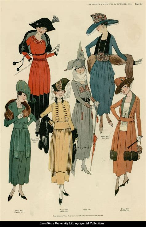 typical womans hairstyle from 1918 72 best 1900 1919 fashion plates images on pinterest