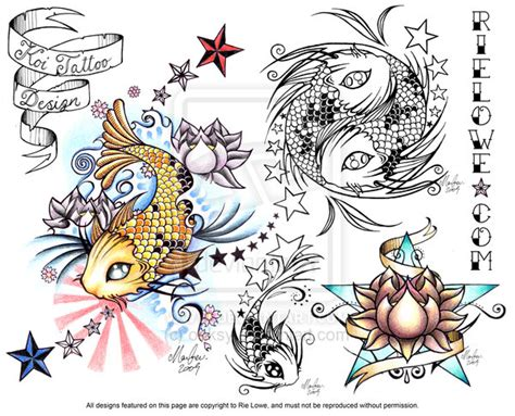tattoo sheets designs koi design flash sheet by onksy on deviantart