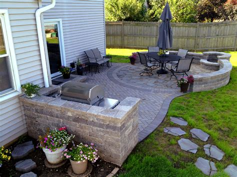 paver backyard designing your patio elegance meets functionality