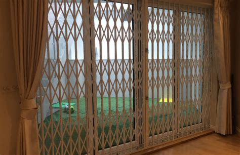Securing Patio Doors Rsg1000 Retractable Grilles Slim Security Grilles