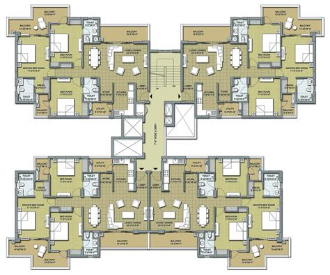 3bhk Plan | floor plans 3 bhk and 4 bhk apartments in chandigarh