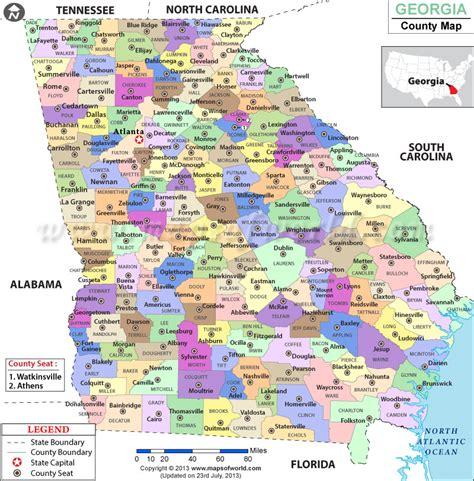 map of uga county map counties usa