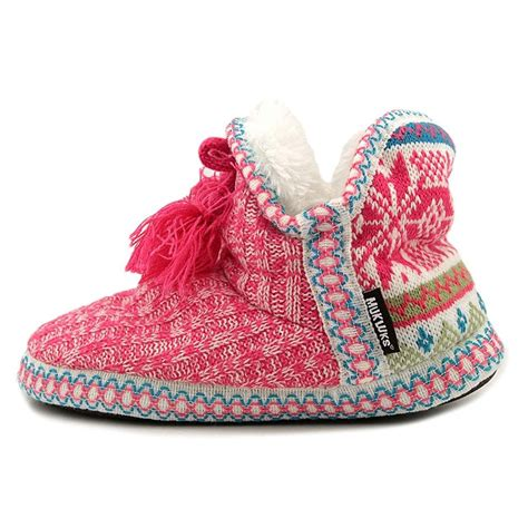indoor slipper boots muk luks womens slipper boots indoor house shoes
