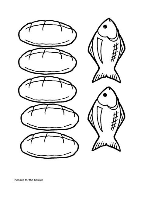 Coloring Pages 5 Loaves And 2 Fish Free Of