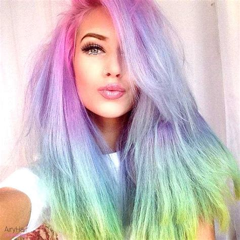 rainbow hair colors 20 rainbow hair color ideas for 2016