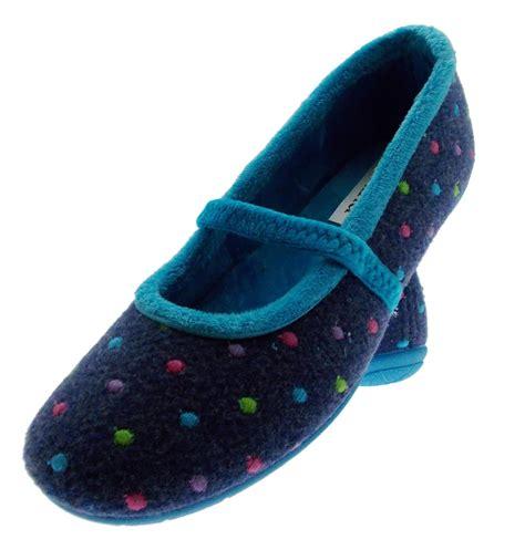 cloth slippers slipper cloth blue felt blue polka dot eland ebay