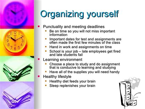 organizational skills time management and organizational skills