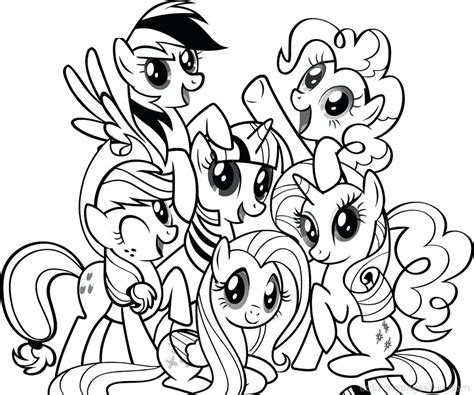 Pony Coloring Pages Pdf