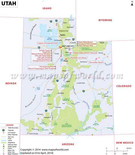 utah on the map of the united states utah ut map places to visit utah and lakes