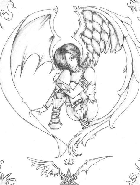 imagenes de angeles y demonios para dibujar a lapiz imagenes de angeles para dibujar anime imagui