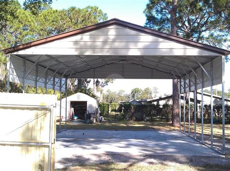 4 car carport 24 w x 36 l x 9 h carport metalbarnscentral