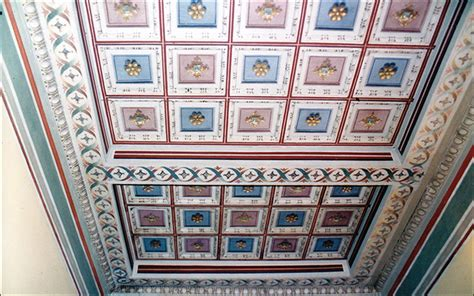 soffitti a cassettoni soffitti a cassettoni decorati pannelli termoisolanti
