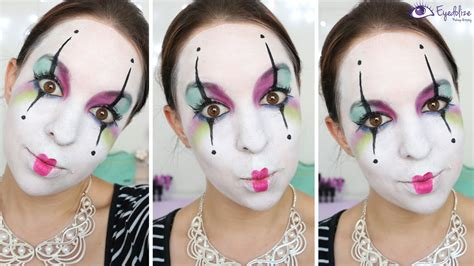 tutorial makeup mime colorful mime makeup tutorial by eyedolizemakeup youtube