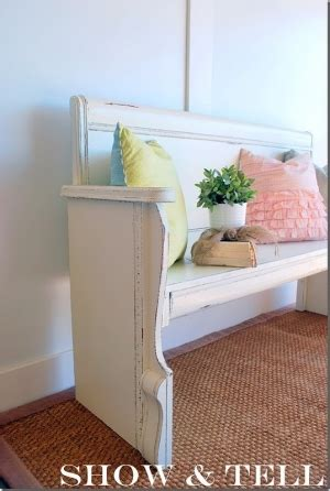diy turning a headboard and footboard into a bench