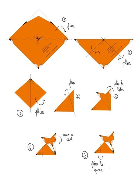 How To Make A Fox Origami - diy origami fox tutorial free origami