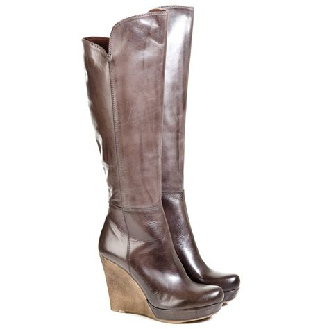 daniel grey wisdom womens knee high wedge boot