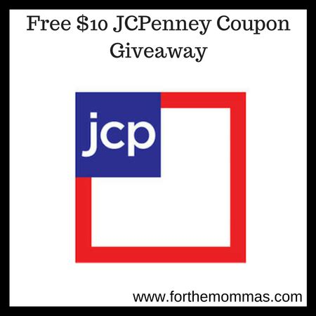 Jcpenney 10 Coupon Giveaway - jcpenney 10 off 10 or more coupon giveaway only 5 20 ftm