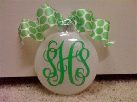 personalized monogrammed christmas ornaments