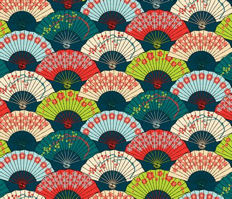 japanese pattern help japanese fans bright patterns fabric pinkowlet spoonflower