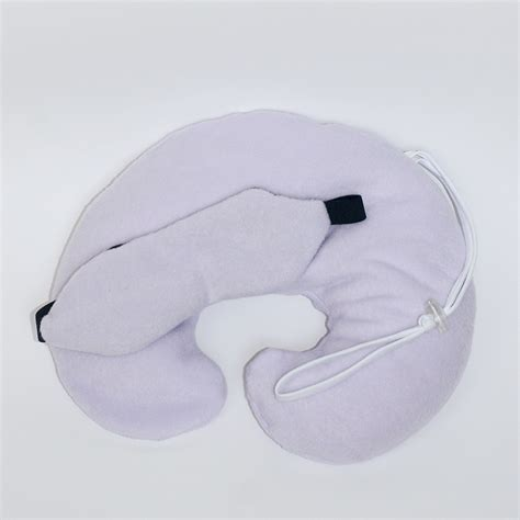 Neck Pillow by Travel Neck Pillow And Sleeping Eye Mask Set Lavender Green