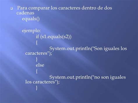 comparar dos cadenas iguales java lenguaje de programacion java