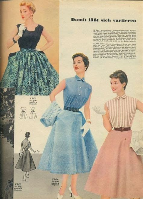 Blouse B 1955 stylish coordinating skirts and blouses for and summer 1955 vintage 1950s fashion