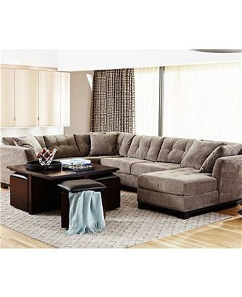 macy s elliot couch elliot fabric sectional living room furniture collection