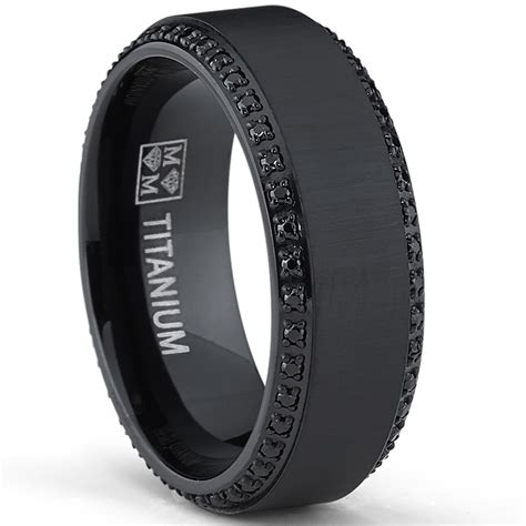 Wedding Bands With Black Diamonds by Black Titanium Wedding Bands With Diamonds Wedding And