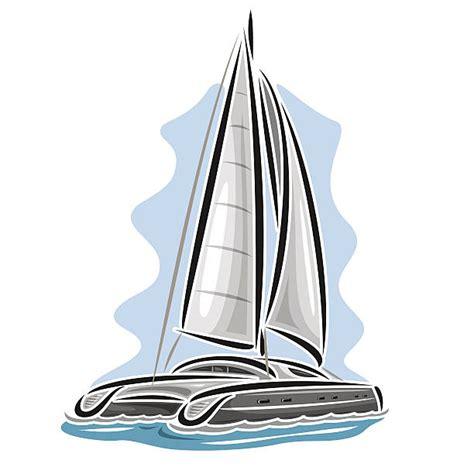 cartoon sailboat vector royalty free catamaran clip art vector images