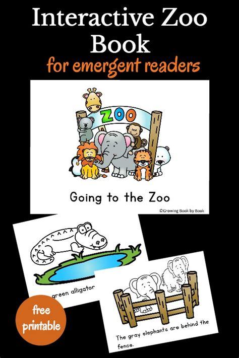 printable zoo animal book going to the zoo printable book