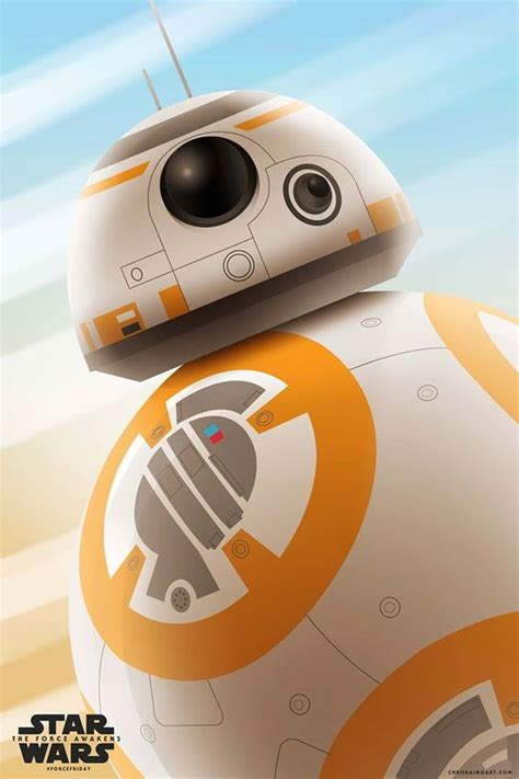 Poster A3 Wars Bb8 wars the awakens posters by chris raimo
