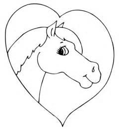 coloriage cheval avec coeur ancenscp