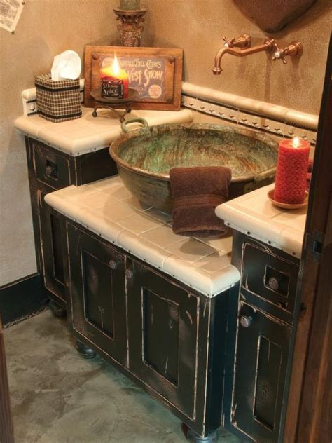 rustic kitchen sink faucets sink ideas diy bathroom vanity plus tile walls country bathroom