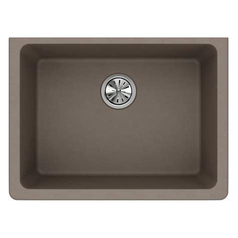 25 Undermount Kitchen Sink by Elkay Quartz Classic Undermount Composite 25 In Single
