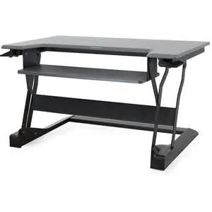 sit stand desk top workstation ergotron workfit t sit stand desktop workstation 33 397