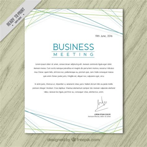 business letterhead vector free abstract business letterhead with lines vector free