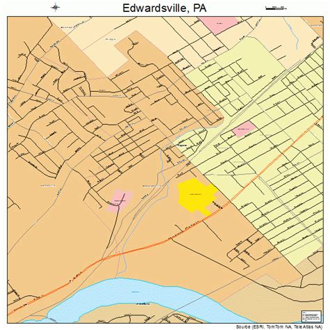 edwardsville pennsylvania street map 4222672