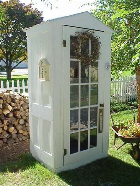 Cool Tool Shed by Dishfunctional Designs New Looks For Salvaged Doors More Repurposed Door Ideas