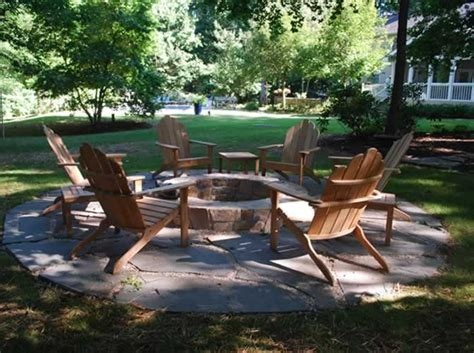 gas pit with adirondack chairs pits patios backyards adirondack