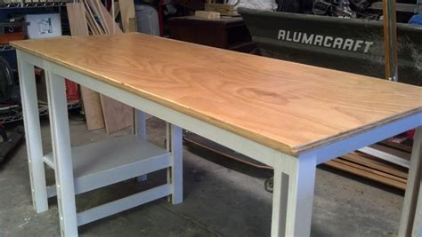 Simple Plywood Desk by Single Sheet Plywood Desk Plan To Build