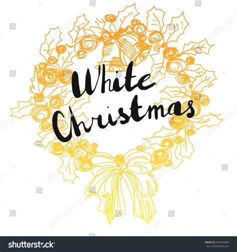 calligraphic text design elements vector white christmas text on artistic background lettering