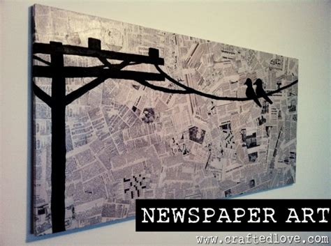 beautiful diy ideas   newspapers