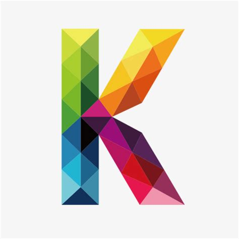 colorful letters colorful letters k letter k colorful png image and