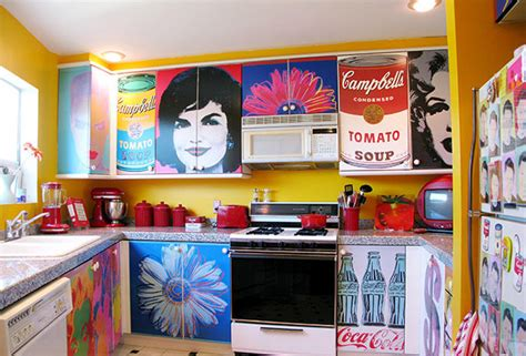 decoupage kitchen hometalk decoupage kitchen cabinets with andy warhol posters