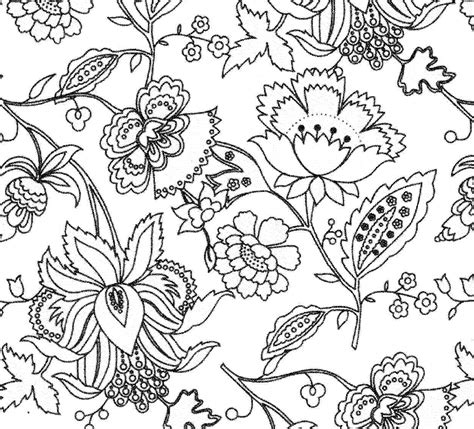floral pattern design drawing design