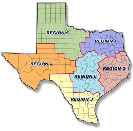 texas school regions map txdps recruiter map