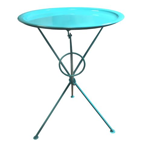 serving tray side table bright coloured metal folding coffee side table with
