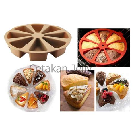 Cetakan Kue Puding Pan Diskon cetakan silikon kue puding slice pan 8 cav cetakan jelly