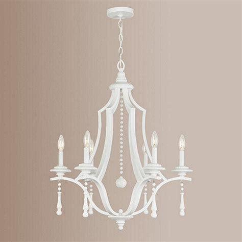white chandelier blanc 6 light chandelier ballard designs