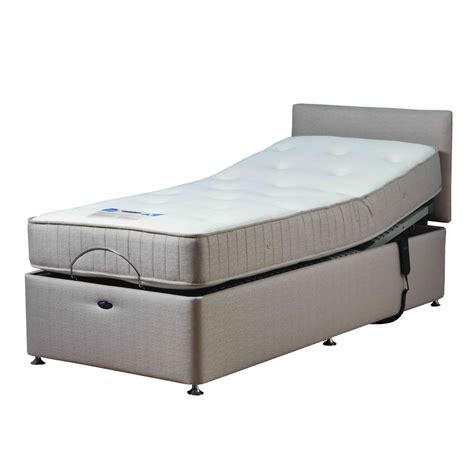 Richmond Beige Adjustable Bed Set With Memory Foam Bed With Mattress Set